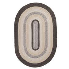 frontier 2 ft x 3 ft grey braided area rug