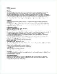 Barista Resume No Experience Cover Letter Barista Resume Ideas