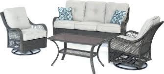 outdoor swivel glider chair 4 piece outdoor conversation set with swivel glider chairs outdoor wicker swivel