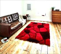 red fur rug large