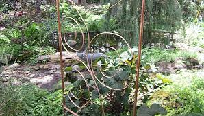 copper garden art. 1-copper-trellis-in-garden-upper-midwest Copper Garden Art G