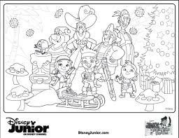 Small Picture Jake And The Neverland Pirates Christmas Coloring Sheet Bebo Pandco