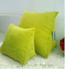 Triangular pillow car seat cushions for back pain office chair