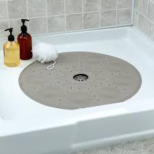 round shower mat