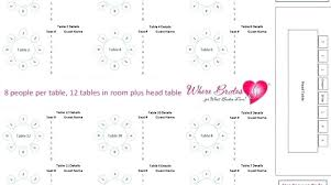Wedding Seating Chart Template 10 Per Table Jasonkellyphoto Co