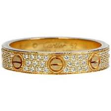cartier wedding rings. Cartier Diamond Gold Love Wedding Band Ring For Sale at 1stdibs