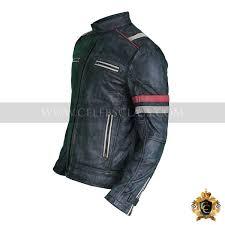 men s vintage motorcycle cafe racer biker retro black distressed leather jacket