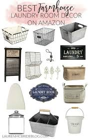 Laundry Room Accessories Decor Home Best Farmhouse Laundry Room Decor on Amazon Lauren McBride 55