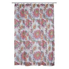coral and teal shower curtain. levtex home victoria shower curtain in coral and teal r