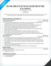 Sample Resume For Bank Jobs For Freshers Bank Branch Manager Resume
