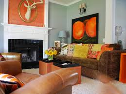 Orange Living Room Curtains Orange Blue And Brown Living Room Yes Yes Go
