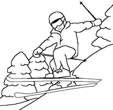 Sky Winter Coloring Page