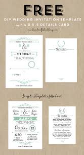 Do It Yourself Wedding Invitations Templates Free