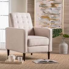 Cream furniture living room Glamorous Black Silver Mervynn Midcentury Button Tufted Fabric Recliner Club Chair By Christopher Knight Home Overstock Cream Living Room Furniture Find Great Furniture Deals Shopping At