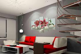Home Design : Hand Painted Hi Q Modern Wall Art Home Decorative Landscape  Flower Regarding Artwork