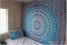 handicrafts tapestry wall hangings black and white hippie mandala tapestry wall art collage dorm beach shawl bath towel weaving tapestry weaving wall