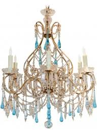antique italian blue crystal chandelier 3 600 00 french chandelier