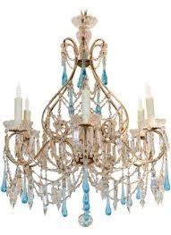 antique italian blue crystal chandelier