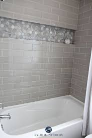 images of tiled showers. bathroom with bathtub and gray subway tile shower surround niche or alcove in hexagon marble images of tiled showers