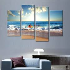 wall arts australian beach wall art 4pcs large canvas art wall hot beach seascape modern