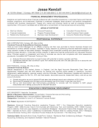 Example Of Financial Analyst Resume 24 Financial Analyst Resume Example Financial Statement Form 4