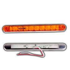 Led Tray Lights Lucidity Lamp Indicator Stainless Steel Cover 9 Led Orange 12