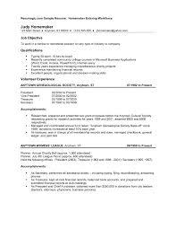 Homemaker Resume Example Resume Homemaker Examples Samples Example Returning Work 1