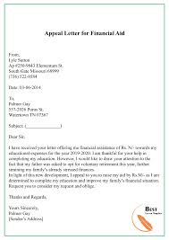 appeal letter template format sle