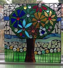 appliqué glass tree