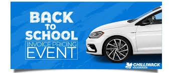 Back To School Invoice Pricing Event Chilliwack Volkswagen