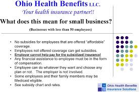 Health Insurance Subsidy Chart Ohio Health Benefits Llc Your Health Insurance Partner Pdf