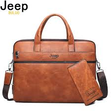 """JEEP BULUO Men's Briefcase Bags For 14"""" Laptop Man Business ..."""