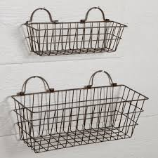 set of small wire baskets