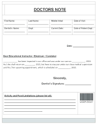 Free Doctors Note Template Awesome Hospital Notes For Work