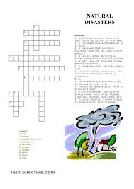 natural disasters crossword puzzle nd cross word crossword puzzle natural disasters