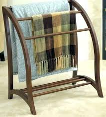 new solid quarter oak wood mission style quilt rack stand wooden hangers with shelves wall