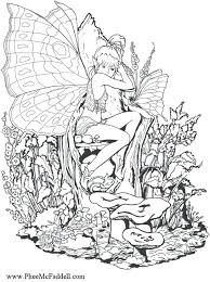 Fantasy Pages For Adult Coloring Page Forest Fairy Art