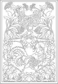 poule et coq art nouveau hen and rooster dover publications