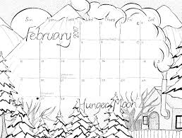 Small Picture February 2017 Calendar Coloring Page Studio Inkcycle