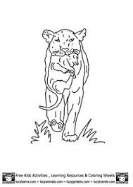 Small Picture Lion Coloring Sheets of Lioness with Cub byCub Lion Coloring Pages