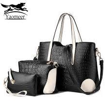 2017 luxury women messenger bags sets italian leather handbags famous brands designer purse vintage shoulder bag female clutch