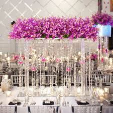 20 meters clear glass crystal beaded garlands chandelier crystal strands for wedding centerpiece decorations and party
