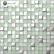 glass mosaic tile crystal glass mosaic tile silver iridescent inner le modern design vitreous glass mosaic