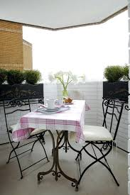 eclectic outdoor furniture. Interesting Eclectic Apartment Balcony Furniture Table Chairs Cloth  Decorative Plants Flowers Eclectic Area Small Outdoor For  Throughout