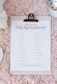 Baby Registry Essentials For Minimalist Living Printable | Best ...