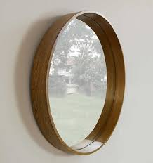 wood wall mirrors. MY-Furniture Large Luxury Round Wall Mirror - WOODEN CIRCLE: Amazon.co.uk: Kitchen \u0026 Home Wood Mirrors