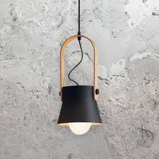 Scandinavian Lighting Uk Black Scandinavian Pendant Light Cl 37168