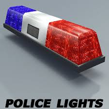 Free Police Lights Police Lights Textured 3d Model 3 Unknown 3ds Dxf Obj