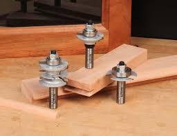 a three piece glass door making router bit set for making glass cabinet doors these bits have profiles to match infinity s matched rail stile router