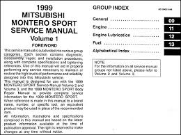 1999 mitsubishi montero sport repair shop manual set original click here to see page 3 of the table of contents covers all 1999 mitsubishi montero sport models including es ls xls